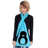 Penguin American Apparel Sheer Jersey Scarf by rainbowswirlz