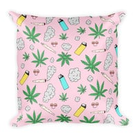 """High Life"" Throw Pillow"