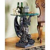 Park Avenue Collection Hastings Warrior Dragon Table