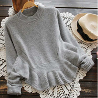 Cupshe Find The Spark Falbala Sweater