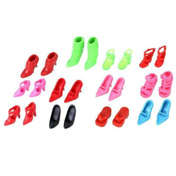 Fashion Mix Assorted Doll High Heel Shoes Sandals for Barbie Doll Accessories Clothes