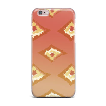 "Alison Coxon ""Coral Ombre Ikat"" Orange Yellow iPhone Case"
