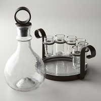 Glass & Iron Barware - Horchow