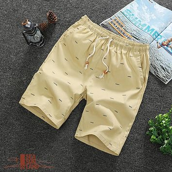 SeaSunLand Summer Cotton Shorts Men Fashion Boardshorts Breathable Male Casual Shorts Comfortable Plus Size Cool Short Masculino