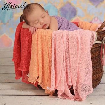 Newborn Photography Wraps Baby Stretch Knit Rayon Nubble Wrap Swaddle Infant Photo Shoot Blankets Newborn Photography Props