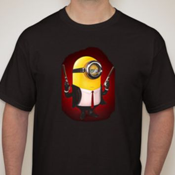 Adult Hitman Minion Black T-shirt