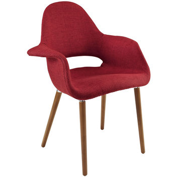 Taupe Accent Chair, Red
