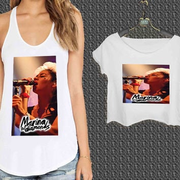 Marina and The Diamonds Design For Woman Tank Top , Man Tank Top / Crop Shirt, Sexy Shirt,Cropped Shirt,Crop Tshirt Women,Crop Shirt Women S, M, L, XL, 2XL**