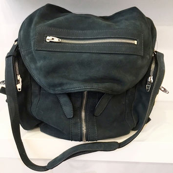 Alexander Wang  Forest Green Suede Backpack