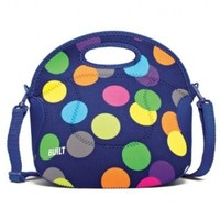 BUILT NY Spicy Relish Designer Neoprene Lunch Tote (Scatter Dot)