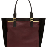Vince Camuto Vera Leather Colorblock Tote Bag