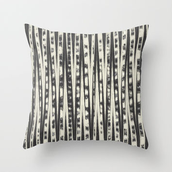 Black & Cream Abstract Throw Pillow by Bohemian Gypsy Jane