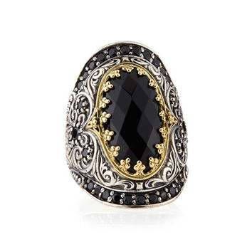 Konstantino Silver & 18k Gold Spinel Oval Ring