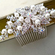 Wedding Hair Comb - Bridal Pearl Rhinestone Hair Comb - Wedding Jewelry - Bridal Hair Accessories - Pearl Comb - Vintage Style Comb