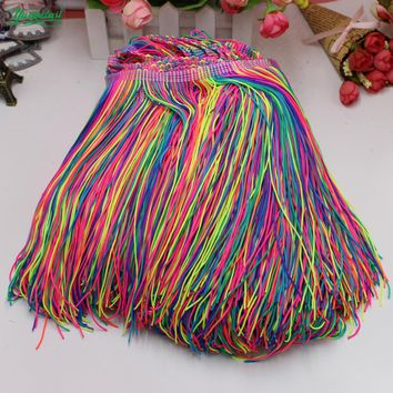 YACKALASI Dance Fringe Tassel Trimming Lace Dip Dye Ombre Latin Dress Macrame Samba Clothing Lace Huality Single Band 9-20CM