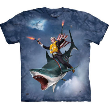 DUBYA SHARK George W Bush T-Shirt Funny President The Mountain Sizes S-3XL NEW!