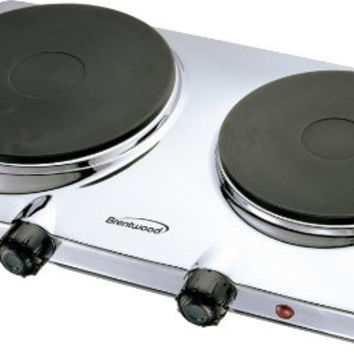Brentwood TS-372 Electric Double Hot Plate, 1440-watt