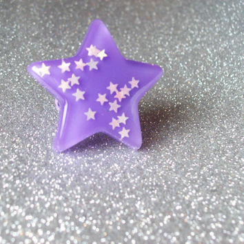 Magical Girl Resin Star Ring