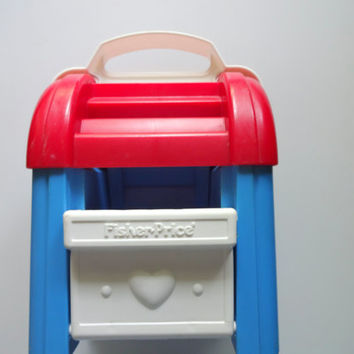 Vintage Fisher Price Mailbox Toy 1989