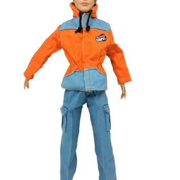 NK Original Prince Clothes Combat Police Uniform Cop Outfit For Barbie Boy Male Ken Doll For Lanard 1 6 Soldier Best Gift 015A