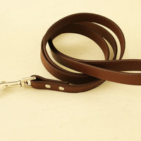 Brown dog Leash, Pet accessory, brown Leather leash, Dog Lovers, Dog Leash, Dog accessory