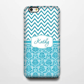 Classic Damask Chevron Monogram iPhone 6 Plus 6 5S 5 5C Protective Case #987