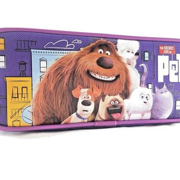 "Disney The Secret Life Of Pets  8"" Purple Pencil Case"