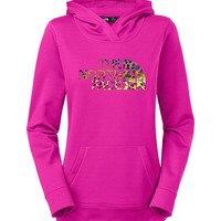 The North Face Leopard Fave Pullover Hoodie for Women in Luminous Pink CZX1-BDX