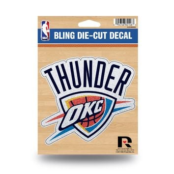 Oklahoma City Thunder Decal 5.5x5 Die Cut Bling