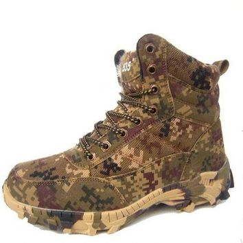 Gotopfashion Winter boots anti - winter boots anti-skid men cotton shoe desert camouflage outdoor snow boots training boots