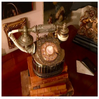 Vintage Baroque Rotary Telephone