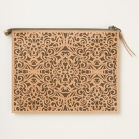 Leather Travel Pouch Baroque Style Inspiration