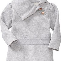 Shawl-Collar Fleece Tunics for Baby