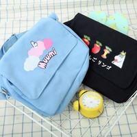 Japanese Moomin Student Messenger Bag