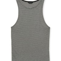 Striped Ribbed Bodycon Tank - Aeropostale