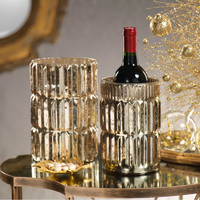 Glass Faceted Wine Holder / Hurricane