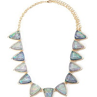 Geo Faux Gemstone Statement Necklace