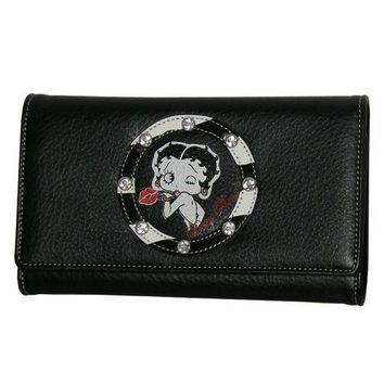 Betty Boop Black Zebra Wallet