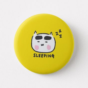 Sleeping Cat Button