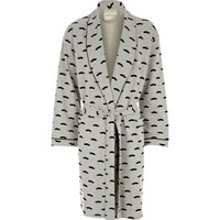 Grey moustache print dressing gown - dressing gowns - loungewear / all in ones - men