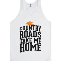 Country Roads, Take Me Home-Unisex White Tank