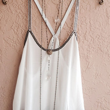 Beaded tunic for Michele