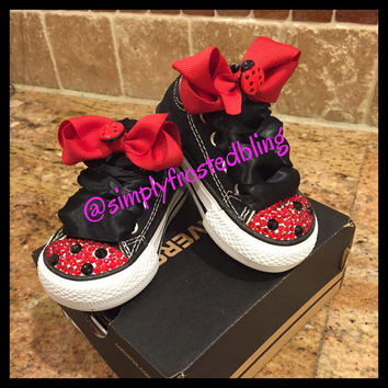 Lady Bug Converse blinged shoes