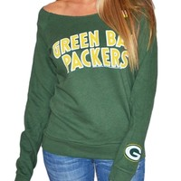 Green Bay Packers Off Shoulder Womens Sweatshirt | SportyThreads.com