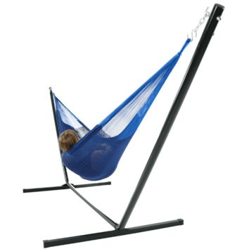 Sunnydaze Decor Blue Family Mayan Hammock with Stand