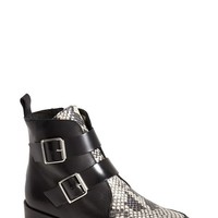 Women's Topshop 'Air' Snake Embossed Inset Leather