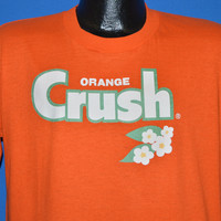 80s Orange Crush Soda Iron On t-shirt Large