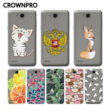 CROWNPRO Fundas FOR LG X power 2 Case Cover FOR LG X power 2 M320 M320N Silicone Soft TPU Phone Back Cover Case