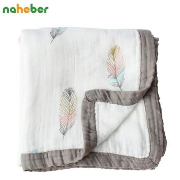 4 Layers Baby Blanket For Newborns Bamboo Fiber Cotton Muslin Swaddle For Infant Baby Bedding Sheet Play Mat For Kids Bath Towel