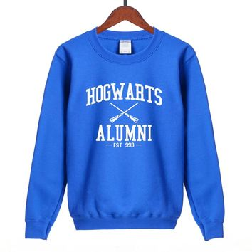 Hot Sale Inspired Magic Hogwarts Alumni printed women sweatshirt 2018 autumn winter casual slim fit hoodies S-2XL available
